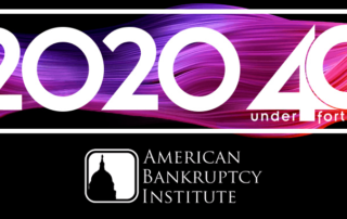 American Bankruptcy Institute Top 40 Under 40 Banner